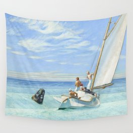 Edward Hopper Ground Swell 1939 Painting Wall Tapestry
