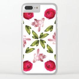 Belle Fleur: Roses Clear iPhone Case