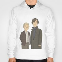 conan Hoodies featuring Sherlock and John Watson by Carl Batterbee Illustration