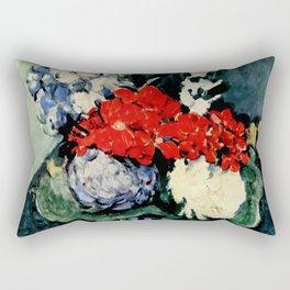 "Paul Cezanne ""Delft vase with flowers"" Rectangular Pillow"
