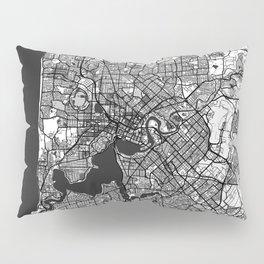 Perth Map Gray Pillow Sham