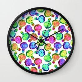 Multicolor Watercolor Bottles! Wall Clock