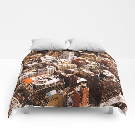 New York Cityscape Comforters