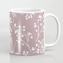 Modern mauve pink white hand painted floral Coffee Mug