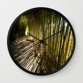 Along the Rothschild Bamboo Trail Wall Clock