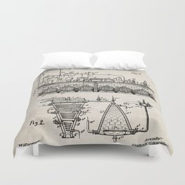 Brewing Beer Patent - Beer Art - Antique Duvet Cover