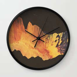 "Glitch art, ""Eruption"" 2014 Wall Clock"