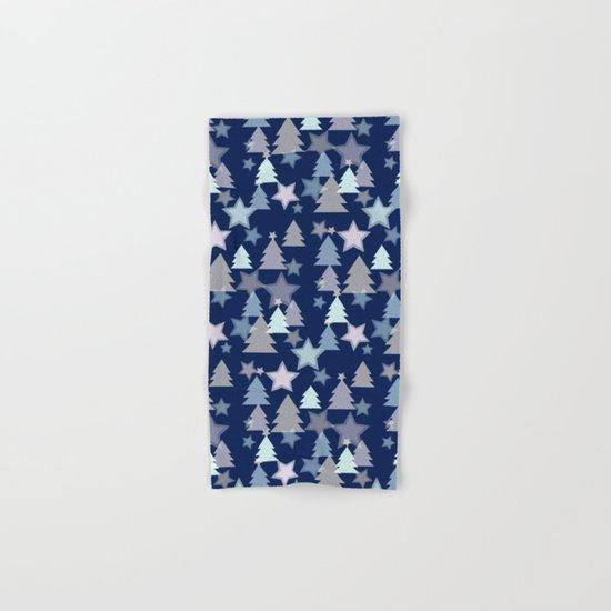 Christmas Landscape blue Hand & Bath Towel