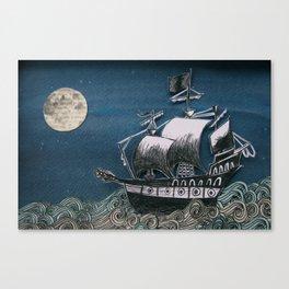 The Ship, The Sea Canvas Print
