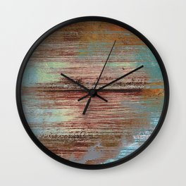 Distressed rust abstract Wall Clock