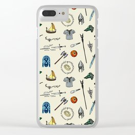 Lord of the pattern Clear iPhone Case