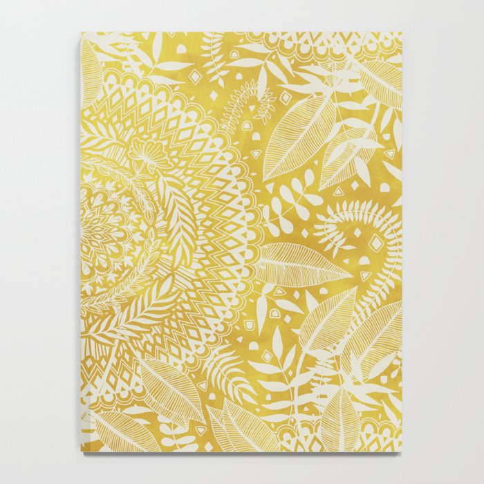 Medallion Pattern in Mustard and Cream Notebook