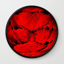 Firestorm abstract Wall Clock
