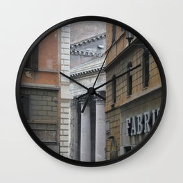 Peeking Pantheon Wall Clock