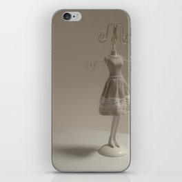Small metal mannequin for hanging rings and rings iPhone Skin