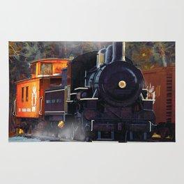 The Rail Yard  -  Steam Train Rug