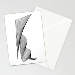 """Linear Collection"" - Minimal Letter K Print Stationery Cards"