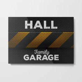 Hall Family Garage Dark Metal Print
