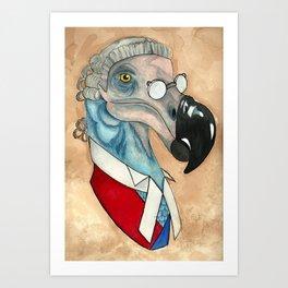 The Honourable Judge Dodo Art Print