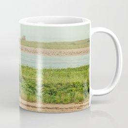 Little Beach House with Seagull Atop Coffee Mug