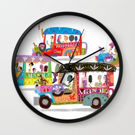 Philippine Jeepney Wall Clock