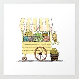 Vegetable Cart Art Print