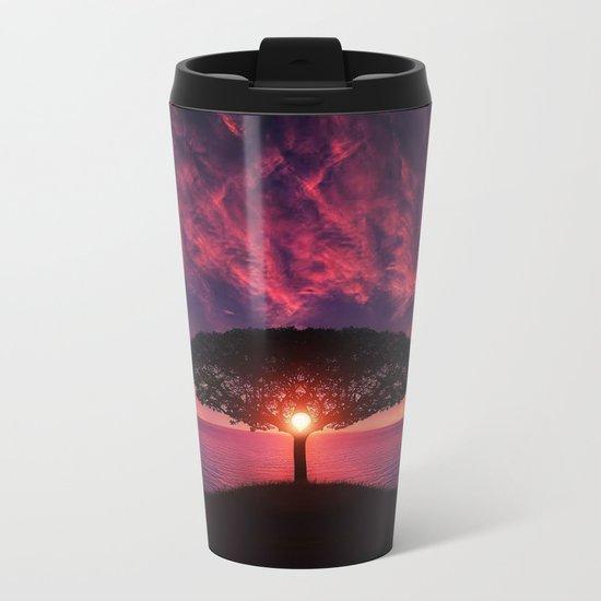 Sunset of Life Metal Travel Mug