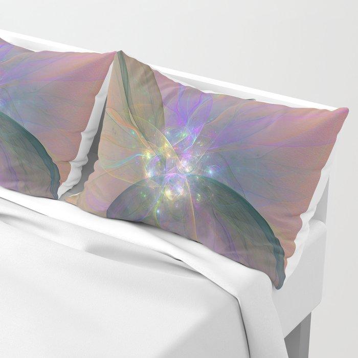 Fairy Blossom Fractal Pillow Sham