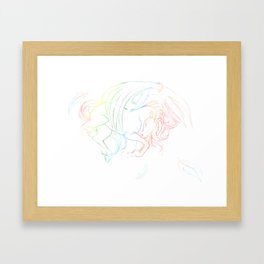Rainbow Flight Framed Art Print