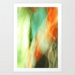 Abstract Art II Blue/Black/Green/Red Art Print
