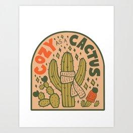 Cozy as a Cactus Art Print