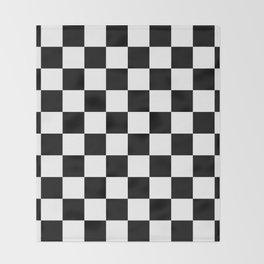 Checkered Pattern: Black & White Throw Blanket