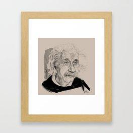 Albert Einstein (scientist) Framed Art Print