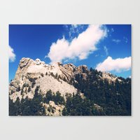 rushmore Canvas Prints featuring rushmore by brandon lecy