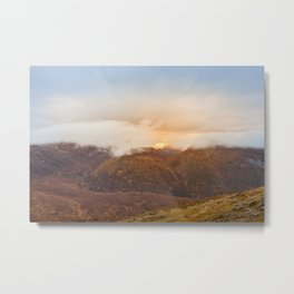 Sunrise over Mourne Mountains Northern Ireland Metal Print