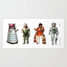 Doctor Who - 1975 Set 01 Art Print