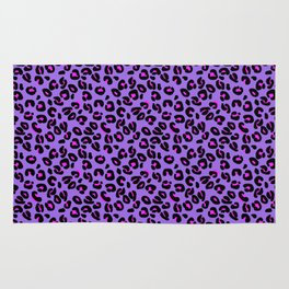 Bright Purple Leopard Spots Animal Print Pattern Rug