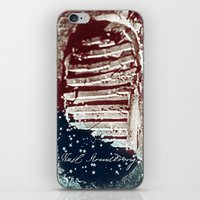 neil gaiman iPhone & iPod Skins featuring NEIL ARMSTRONG by OmaPRINTS
