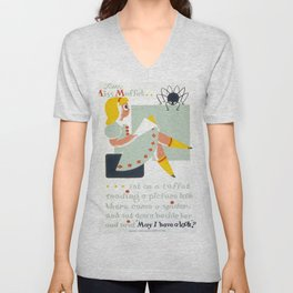 Vintage poster - Little Miss Muffet Unisex V-Neck