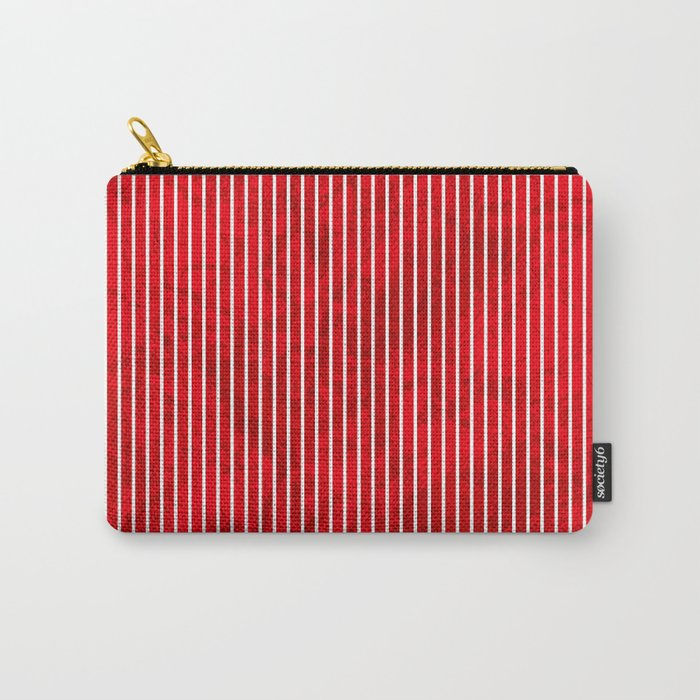 Red grunge stripes on white background Carry-All Pouch