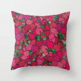 Cherry Mix Throw Pillow