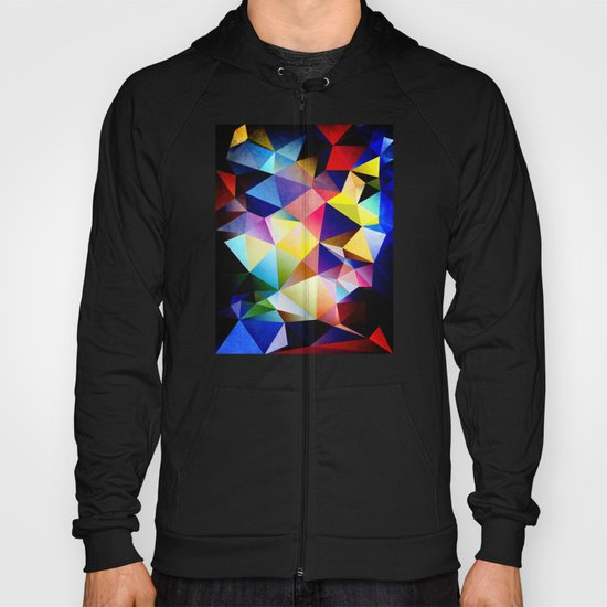 Abstract Triangles And Texture Hoody