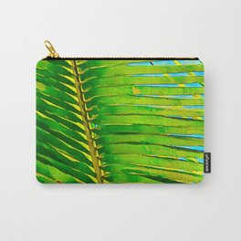 Coconut Frond in Green Aloha Carry-All Pouch