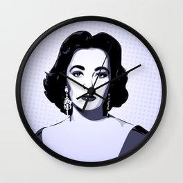 Elizabeth Taylor | Pop Art Wall Clock