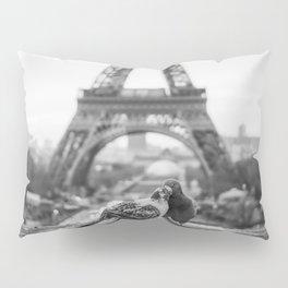 Love Birds (Black and White) Pillow Sham