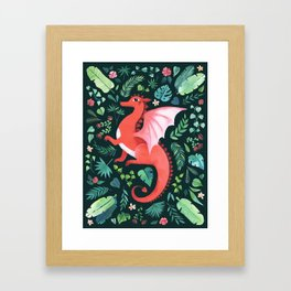 Tropical Dragon Framed Art Print