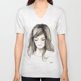 A portrait 4 Unisex V-Neck