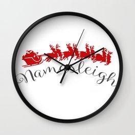 Nama-Sleigh Wall Clock