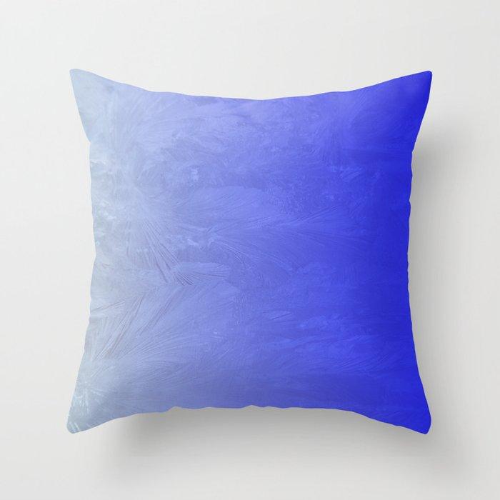 Blue Ice Glow Throw Pillow