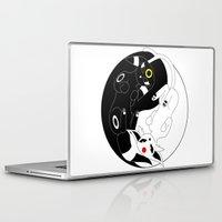 ying yang Laptop & iPad Skins featuring Ying & Yang by Kurew Kreations